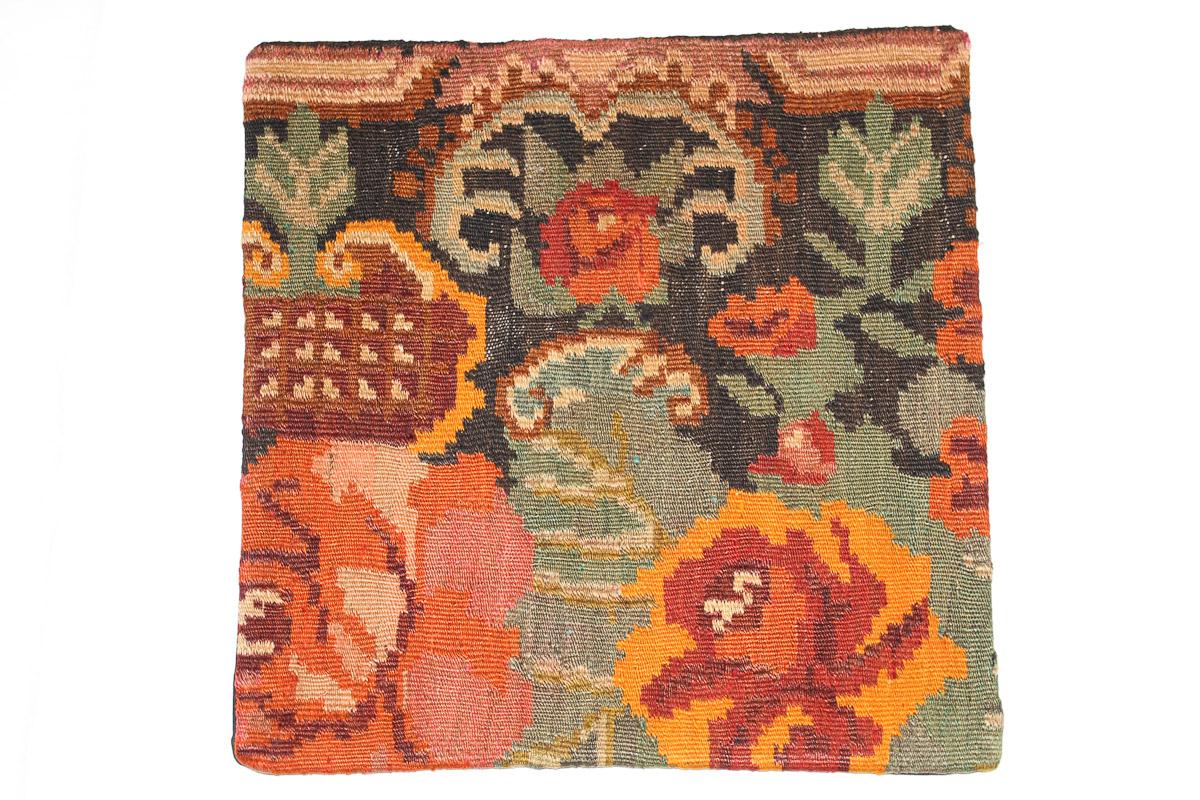 Rozenkelim kussen nr 16050 (45cm x 45cm) Kussen gemaakt van authentieke rozenkelim, inclusief binnenkussen