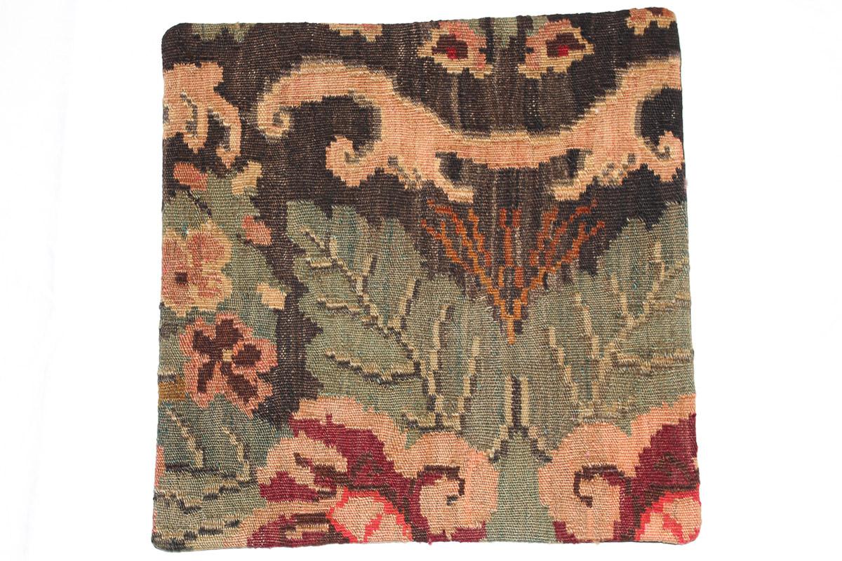 Rozenkelim kussen nr 16051 (45cm x 45cm) Kussen gemaakt van authentieke rozenkelim, inclusief binnenkussen