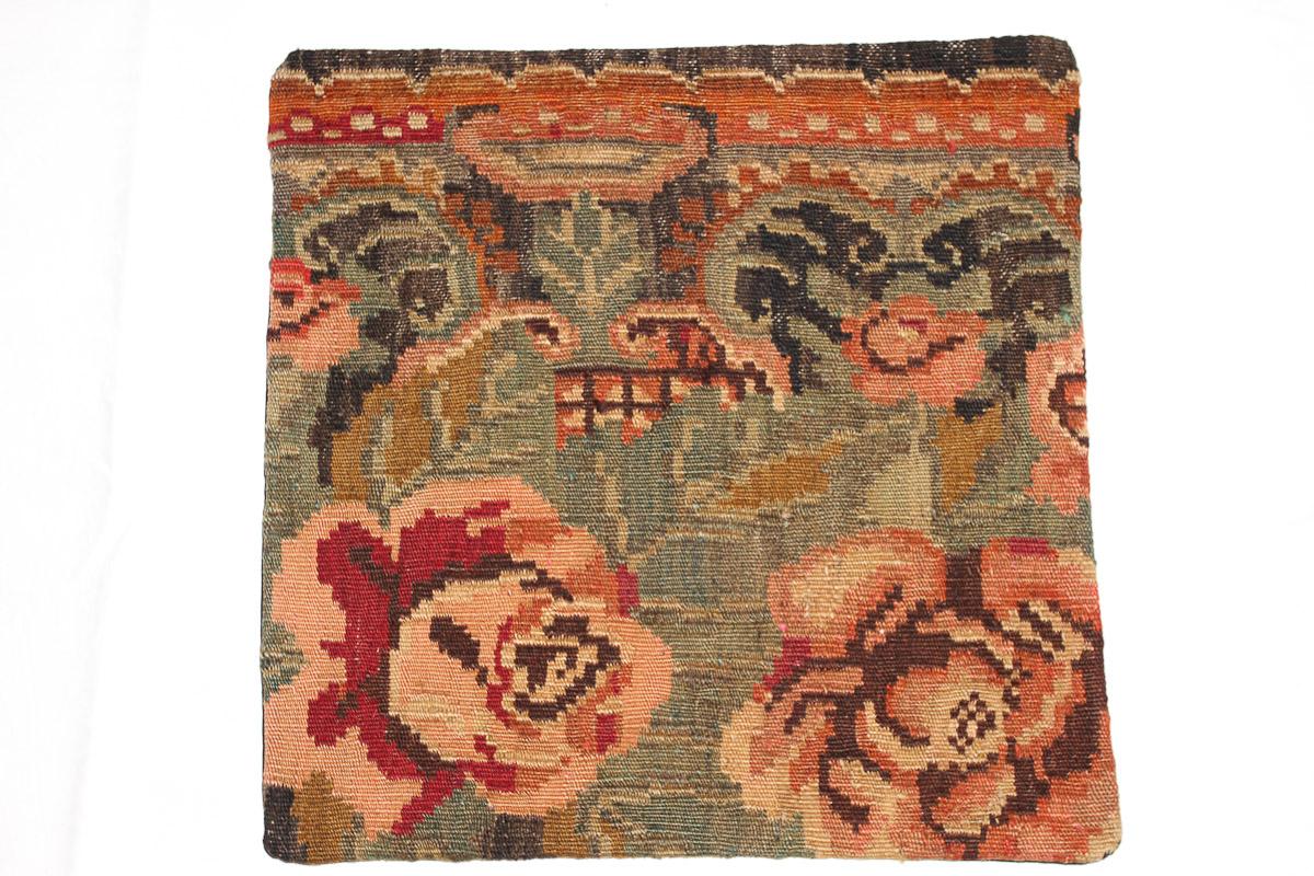 Rozenkelim kussen nr 16052 (45cm x 45cm) Kussen gemaakt van authentieke rozenkelim, inclusief binnenkussen