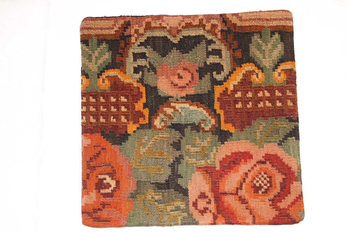Rozenkelim kussen nr 16054 (45cm x 45cm) Kussen gemaakt van authentieke rozenkelim, inclusief binnenkussen