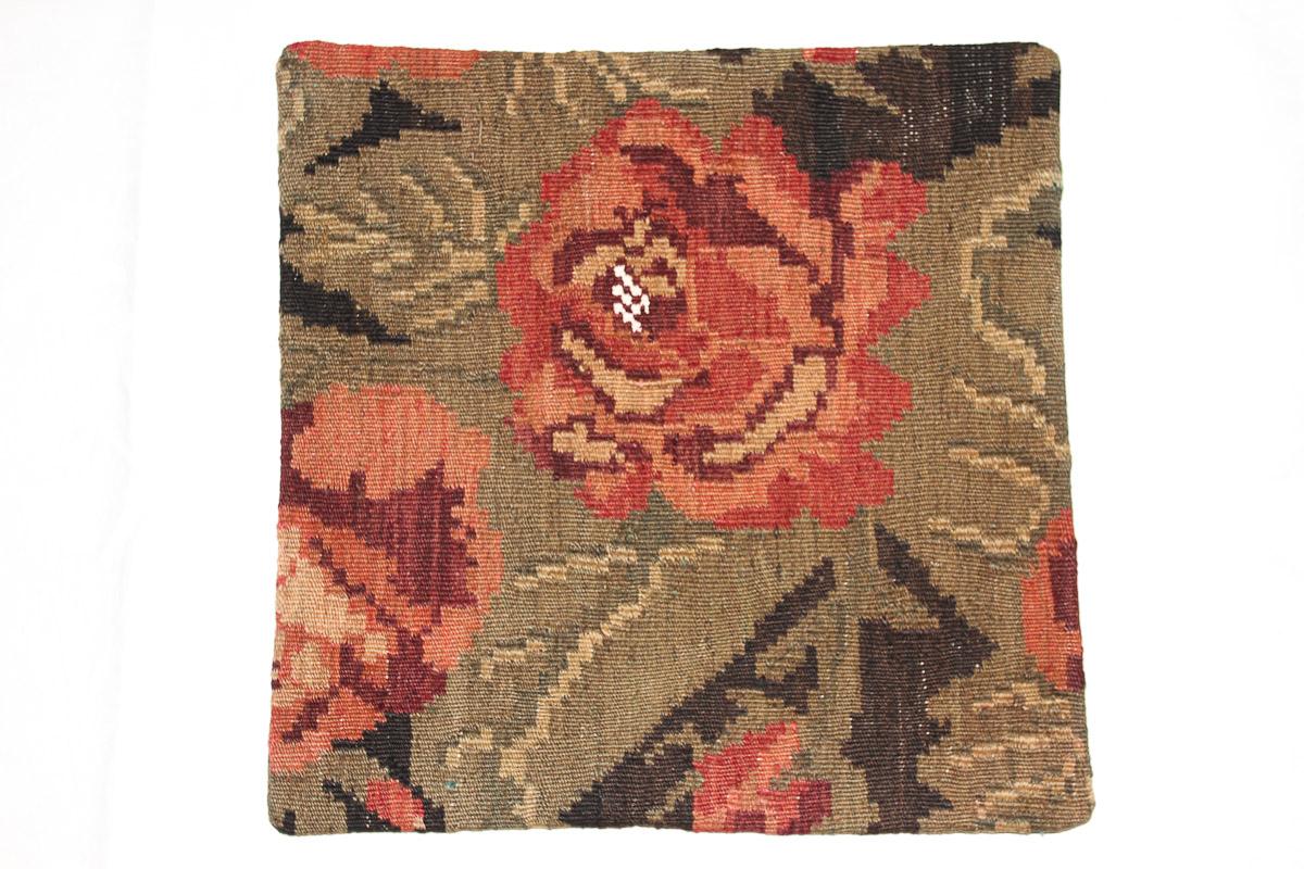 Rozenkelim kussen nr 16058 (45cm x 45cm) Kussen gemaakt van authentieke rozenkelim, inclusief binnenkussen