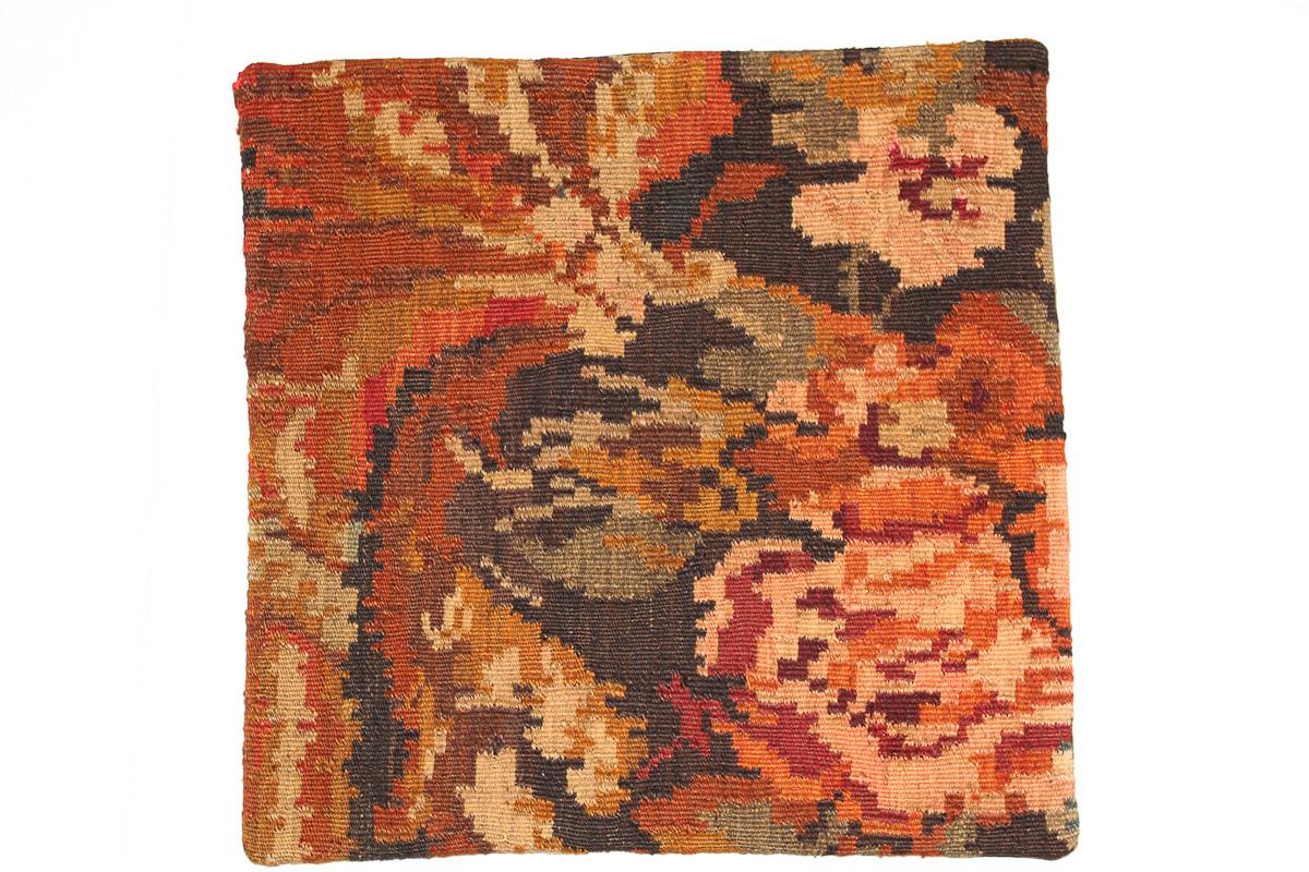 Rozenkelim kussen nr 16059 (45cm x 45cm) Kussen gemaakt van authentieke rozenkelim, inclusief binnenkussen
