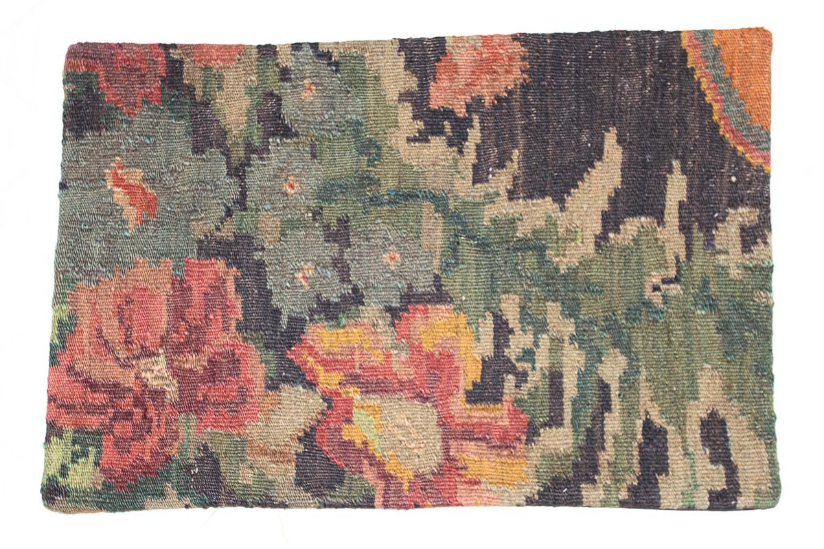 Rozenkelim kussen nr 1606 (60cm x 40cm) Kussen gemaakt van authentieke rozenkelim, inclusief binnenkussen