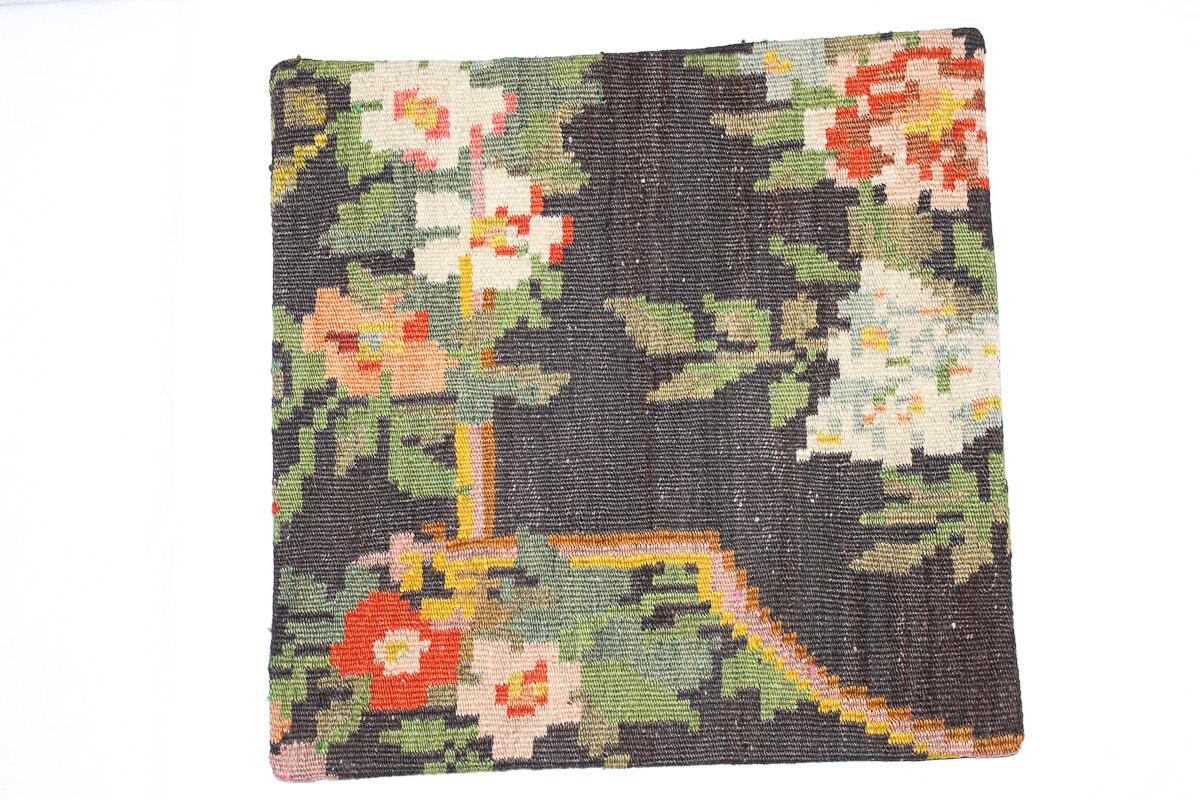 Rozenkelim kussen nr 16067 (45cm x 45cm) Kussen gemaakt van authentieke rozenkelim, inclusief binnenkussen