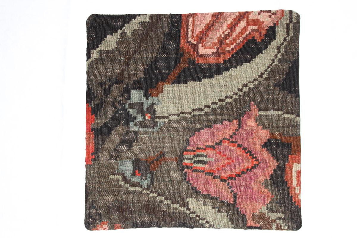 Rozenkelim kussen nr 16068 (45cm x 45cm) Kussen gemaakt van authentieke rozenkelim, inclusief binnenkussen