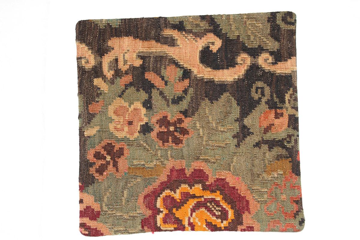 Rozenkelim kussen nr 16069 (45cm x 45cm) Kussen gemaakt van authentieke rozenkelim, inclusief binnenkussen