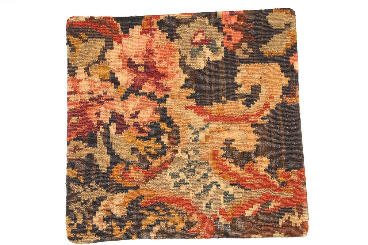 Rozenkelim kussen nr 16073 (45cm x 45cm) Kussen gemaakt van authentieke rozenkelim, inclusief binnenkussen