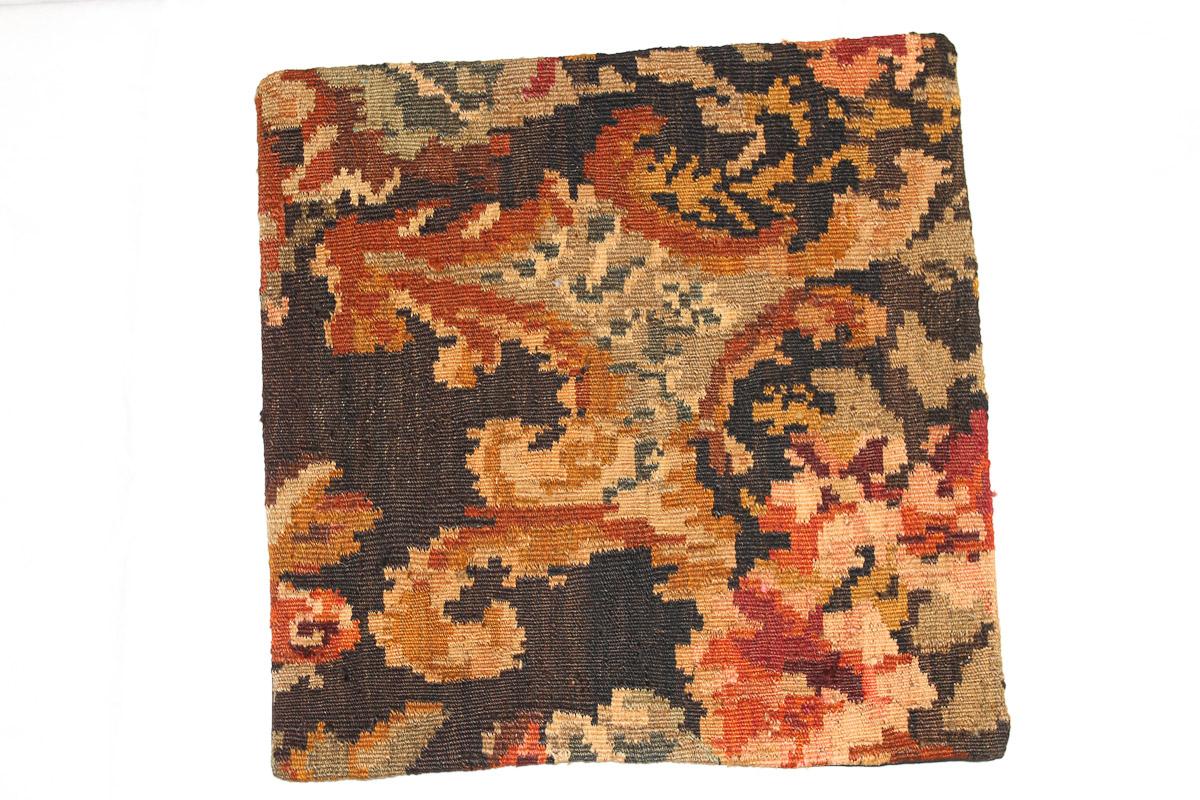 Rozenkelim kussen nr 16077 (45cm x 45cm) Kussen gemaakt van authentieke rozenkelim, inclusief binnenkussen