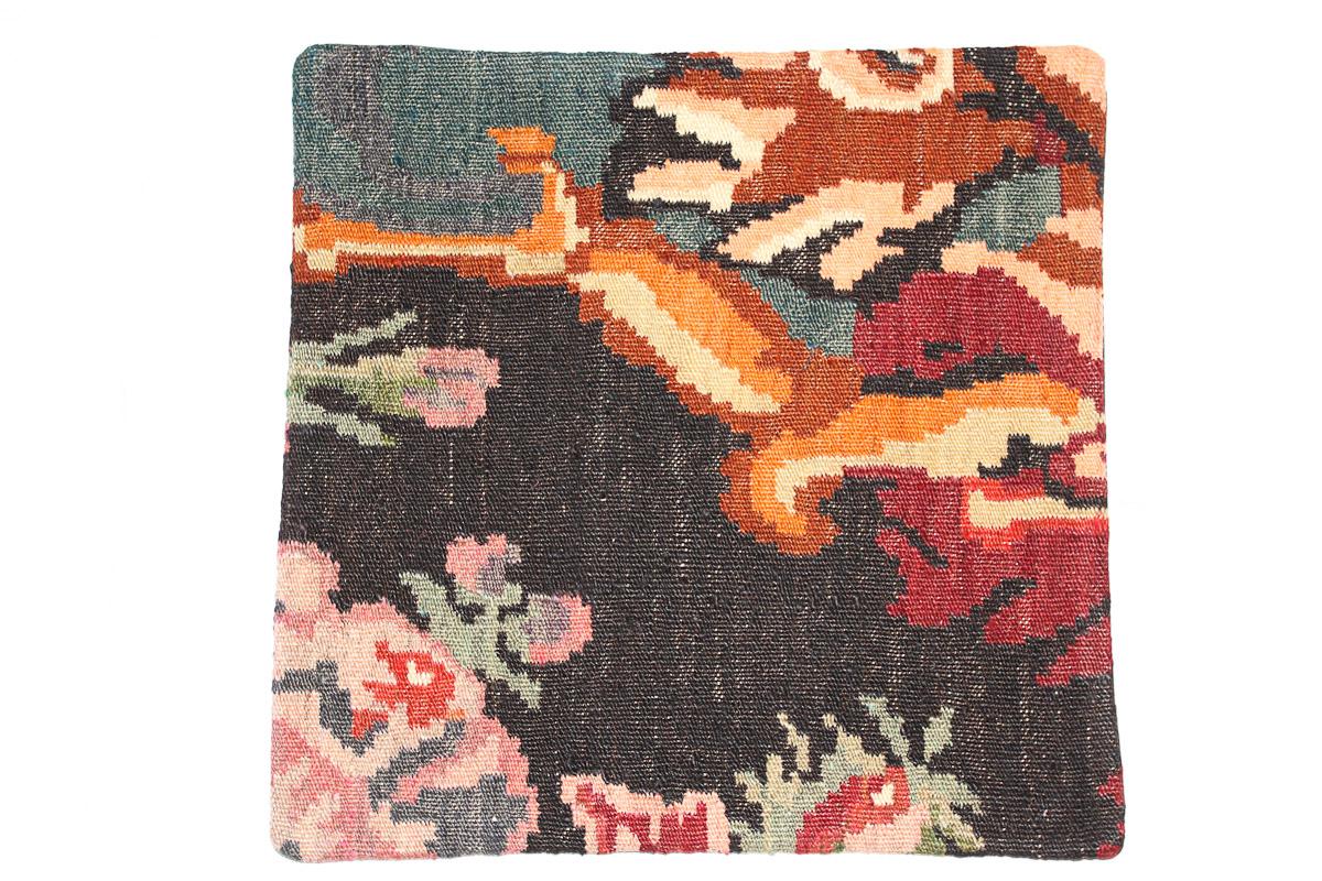 Rozenkelim kussen nr 16081 (45cm x 45cm) Kussen gemaakt van authentieke rozenkelim, inclusief binnenkussen