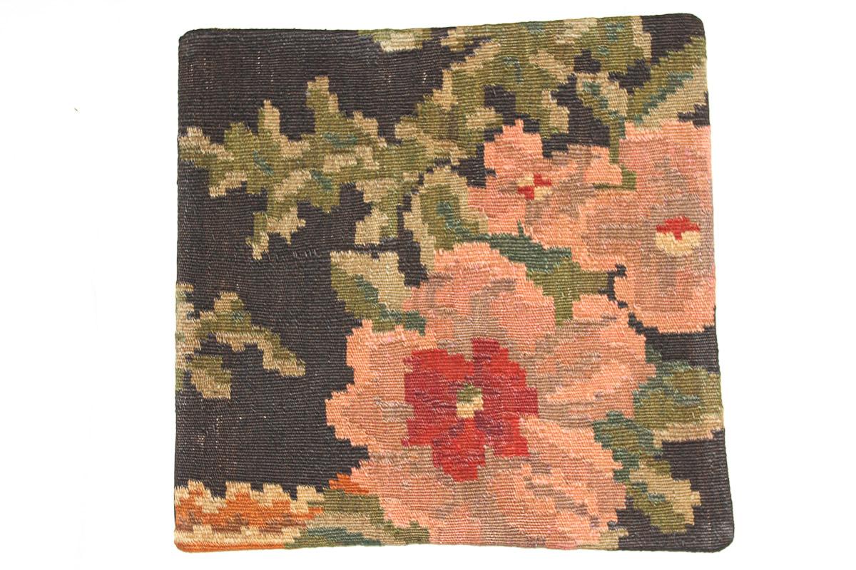 Rozenkelim kussen nr 16087 (45cm x 45cm) Kussen gemaakt van authentieke rozenkelim, inclusief binnenkussen