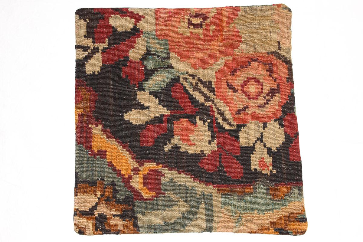 Rozenkelim kussen nr 16090 (45cm x 45cm) Kussen gemaakt van authentieke rozenkelim, inclusief binnenkussen