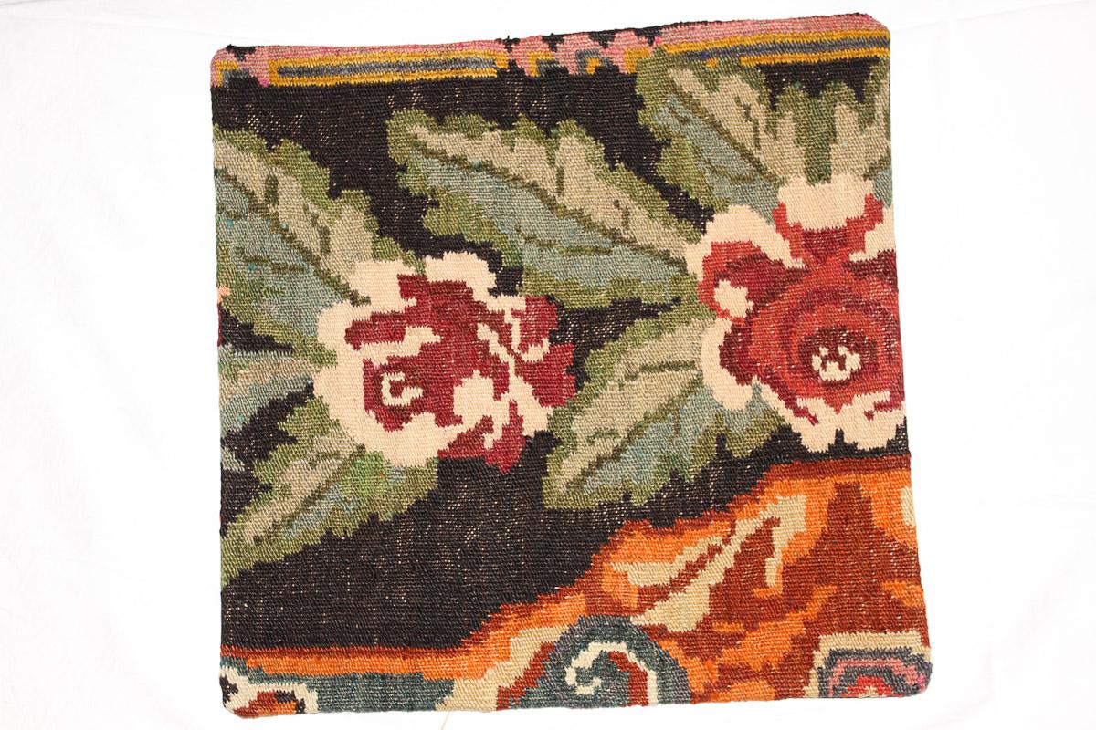 Rozenkelim kussen nr 16093 (45cm x 45cm) Kussen gemaakt van authentieke rozenkelim, inclusief binnenkussen