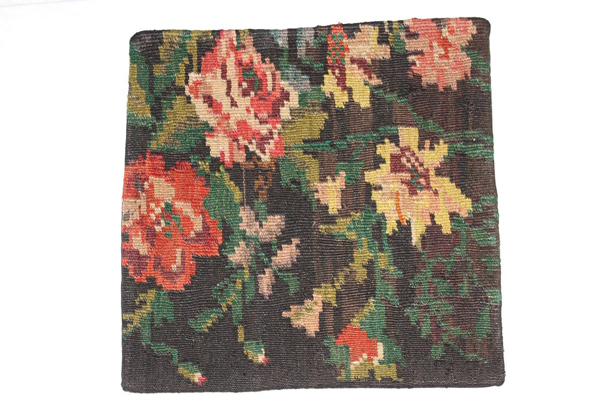 Rozenkelim kussen nr 16095 (45cm x 45cm) Kussen gemaakt van authentieke rozenkelim, inclusief binnenkussen