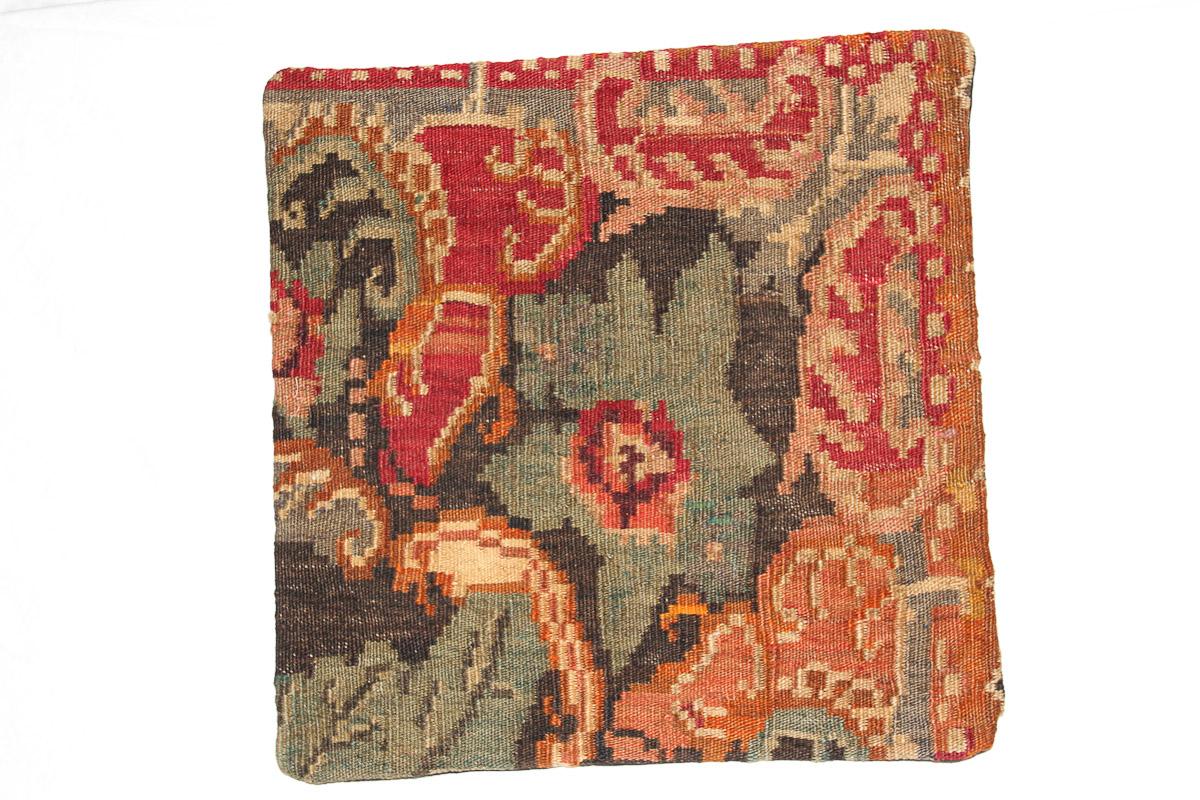 Rozenkelim kussen nr 16104 (45cm x 45cm) Kussen gemaakt van authentieke rozenkelim, inclusief binnenkussen