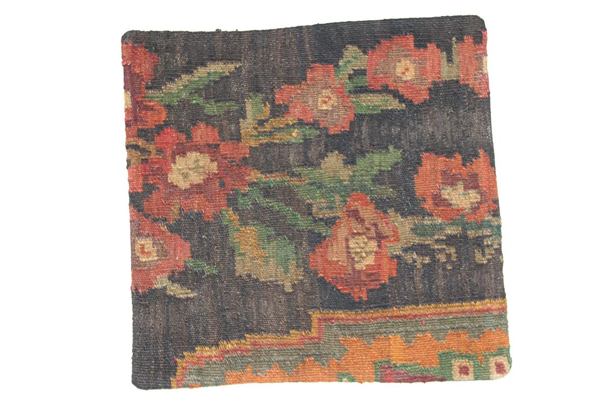 Rozenkelim kussen nr 16105 (45cm x 45cm) Kussen gemaakt van authentieke rozenkelim, inclusief binnenkussen