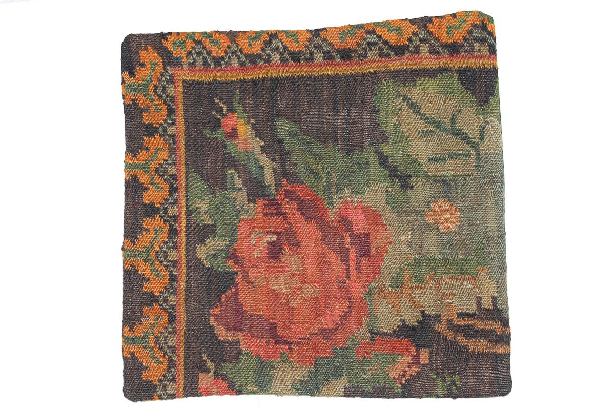 Rozenkelim kussen nr 16106 (45cm x 45cm) Kussen gemaakt van authentieke rozenkelim, inclusief binnenkussen