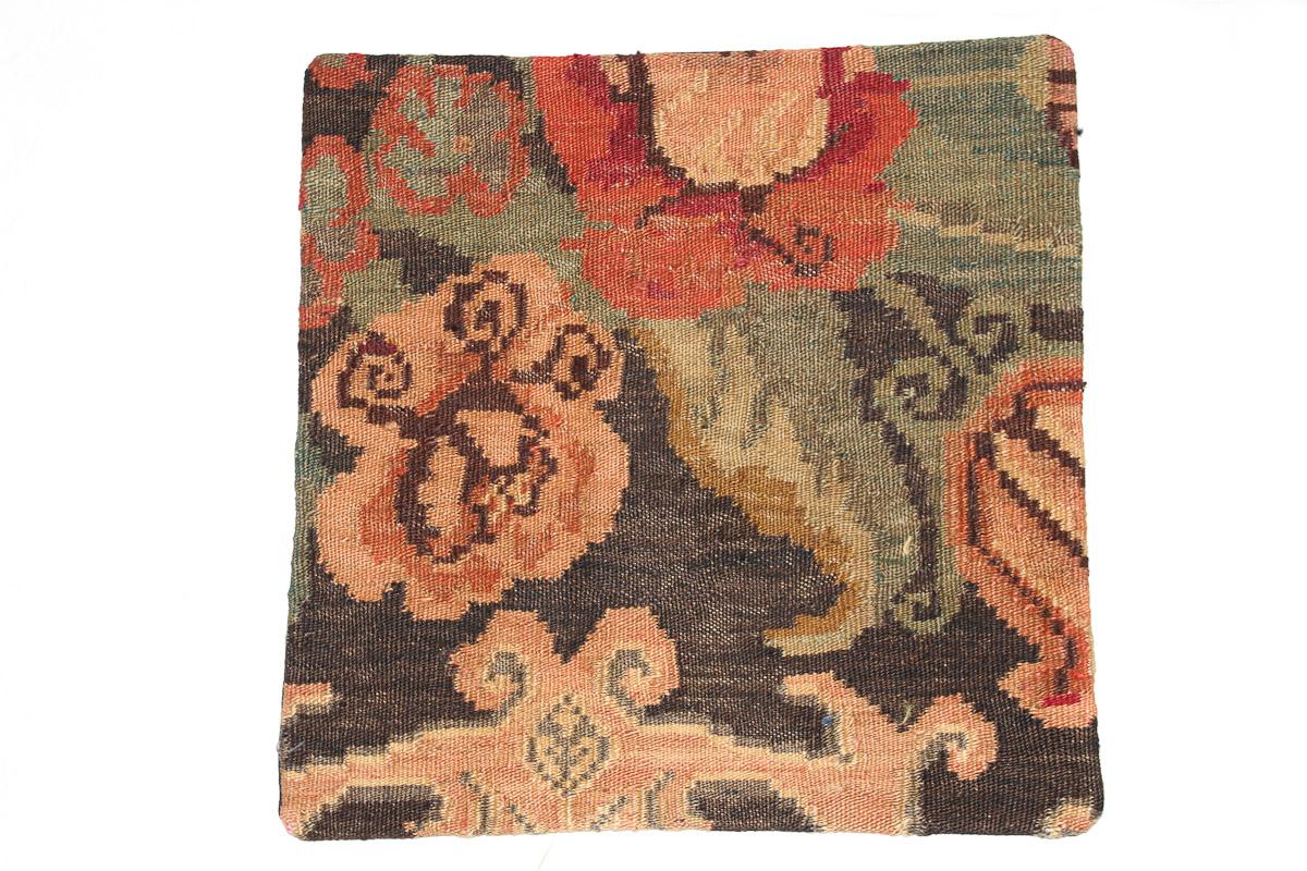 Rozenkelim kussen nr 16111 (45cm x 45cm) Kussen gemaakt van authentieke rozenkelim, inclusief binnenkussen