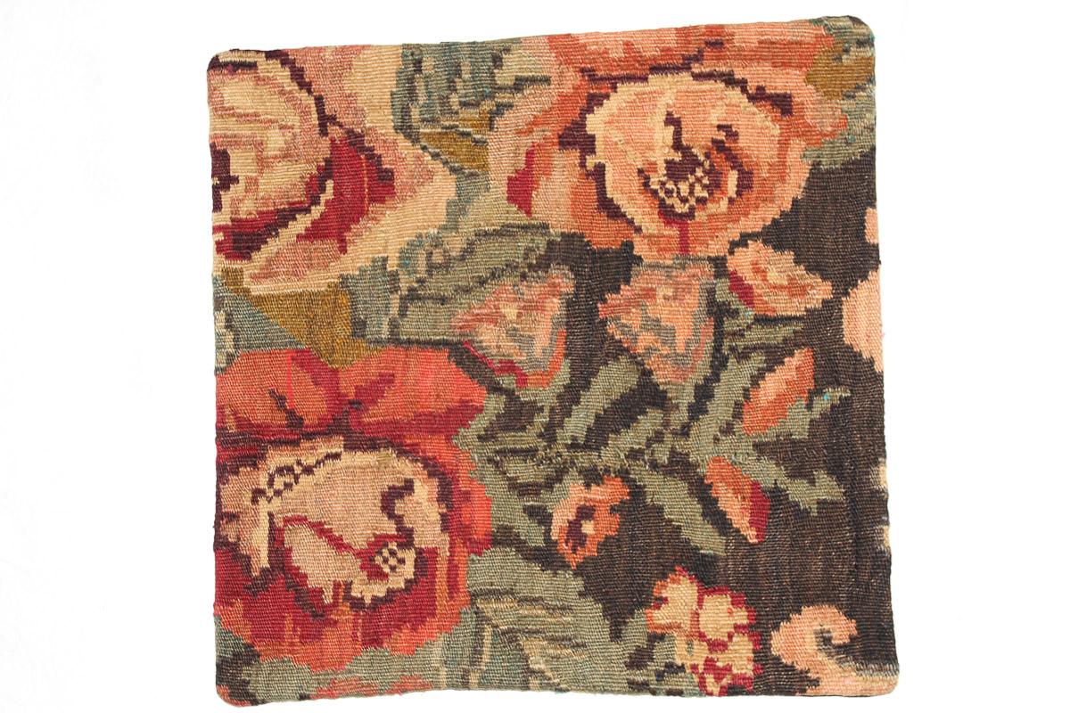 Rozenkelim kussen nr 16114 (45cm x 45cm) Kussen gemaakt van authentieke rozenkelim, inclusief binnenkussen