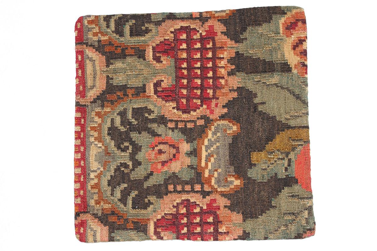 Rozenkelim kussen nr 16115 (45cm x 45cm) Kussen gemaakt van authentieke rozenkelim, inclusief binnenkussen