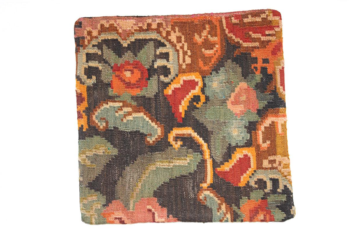 Rozenkelim kussen nr 16118 (45cm x 45cm) Kussen gemaakt van authentieke rozenkelim, inclusief binnenkussen