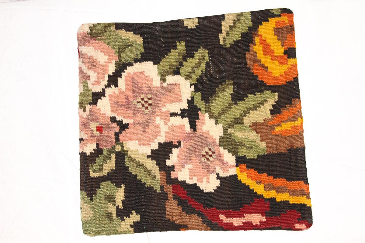 Rozenkelim kussen nr 16119 (45cm x 45cm) Kussen gemaakt van authentieke rozenkelim, inclusief binnenkussen
