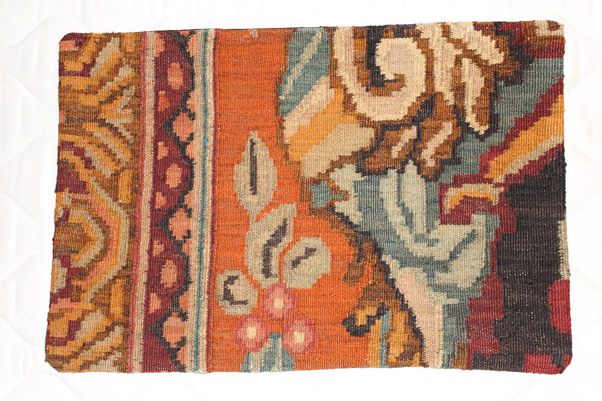 Rozenkelim kussen nr 1612 (60cm x 40cm) Kussen gemaakt van authentieke rozenkelim, inclusief binnenkussen