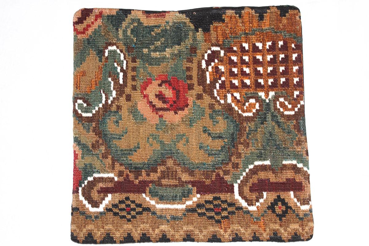 Rozenkelim kussen nr 16127 (45cm x 45cm) Kussen gemaakt van authentieke rozenkelim, inclusief binnenkussen