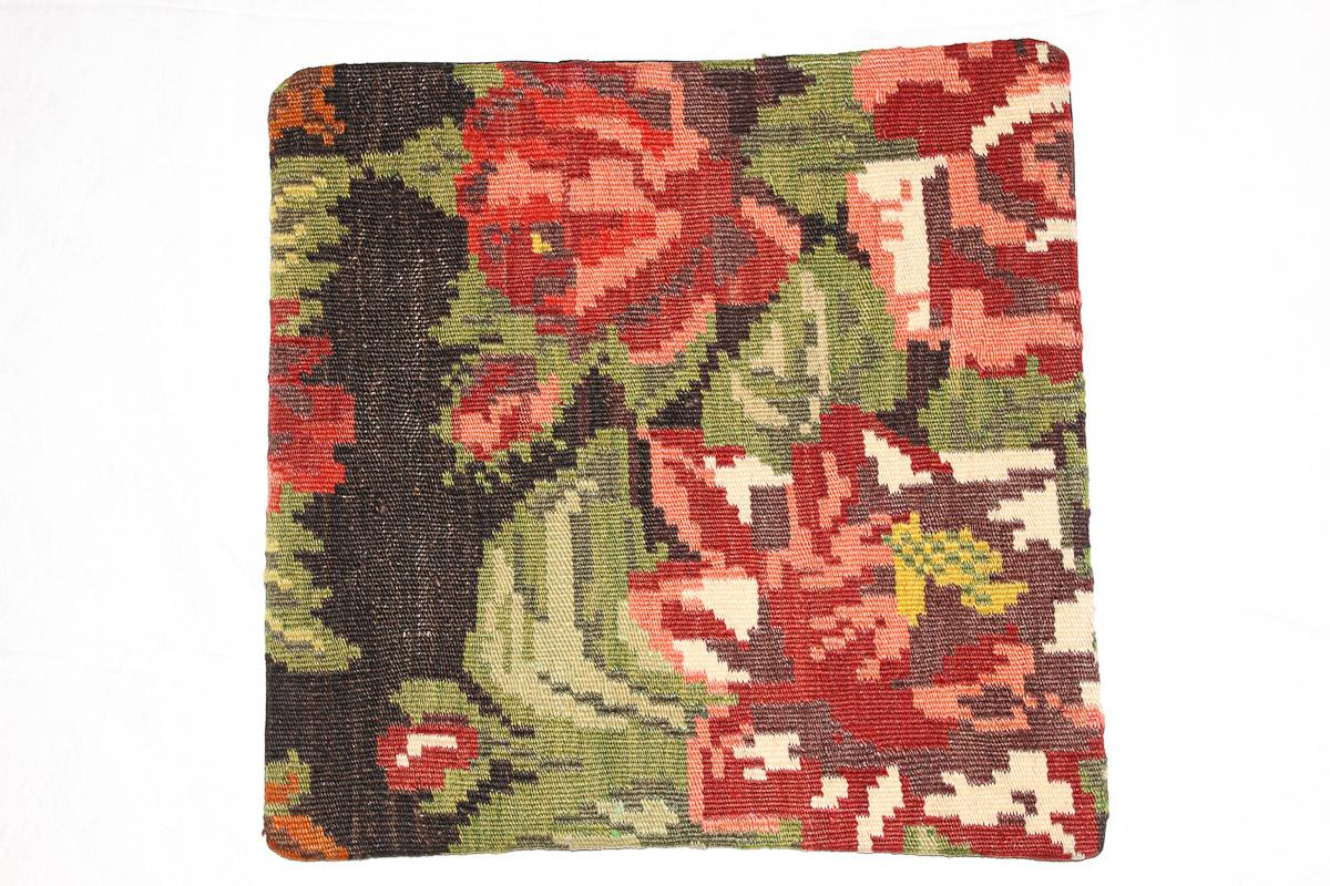 Rozenkelim kussen nr 16128 (45cm x 45cm) Kussen gemaakt van authentieke rozenkelim, inclusief binnenkussen