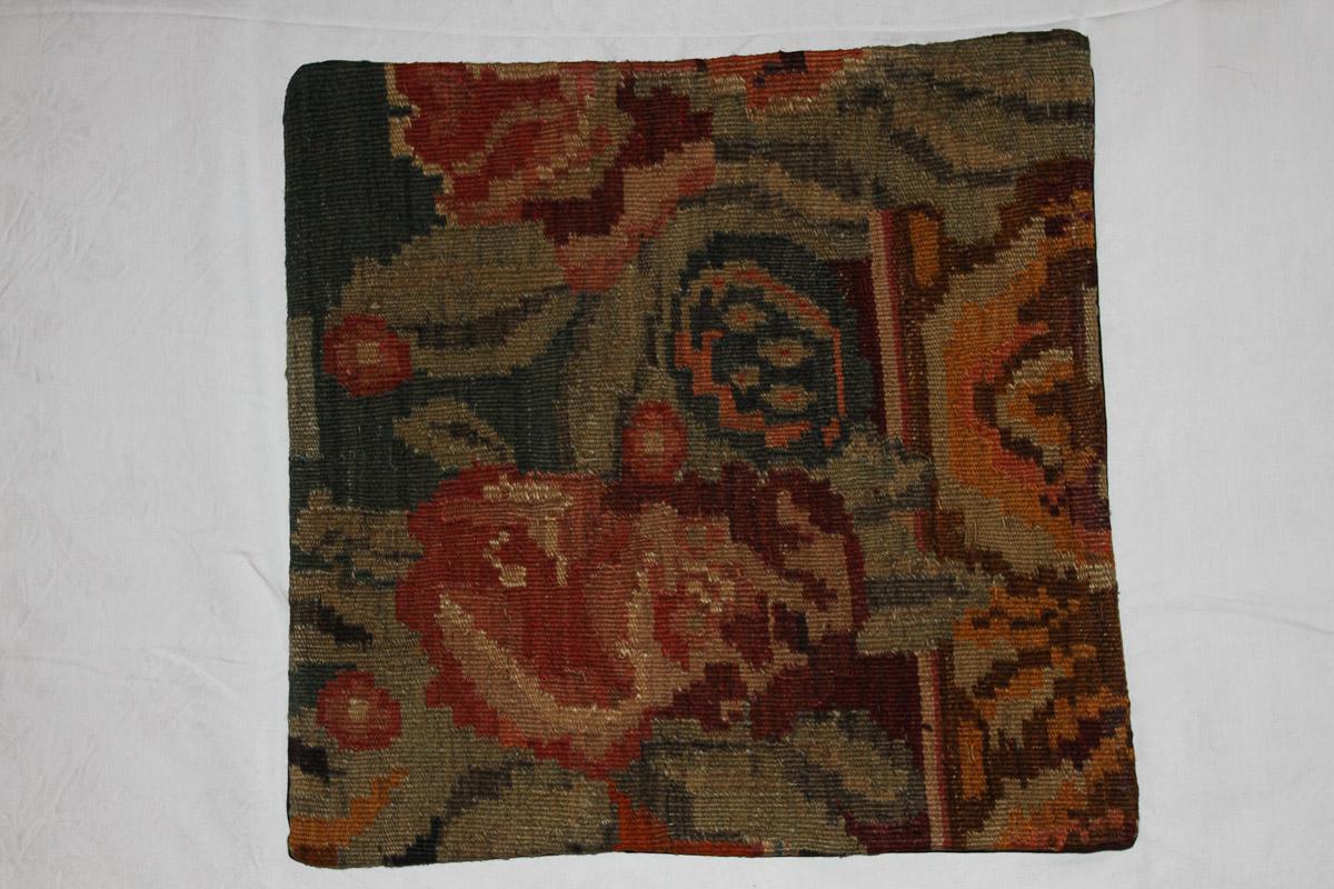 Rozenkelim kussen nr 16134 (45cm x 45cm) Kussen gemaakt van authentieke rozenkelim, inclusief binnenkussen