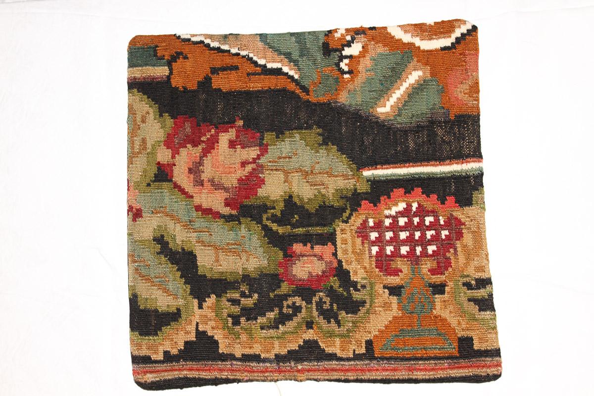 Rozenkelim kussen nr 16135 (45cm x 45cm) Kussen gemaakt van authentieke rozenkelim, inclusief binnenkussen