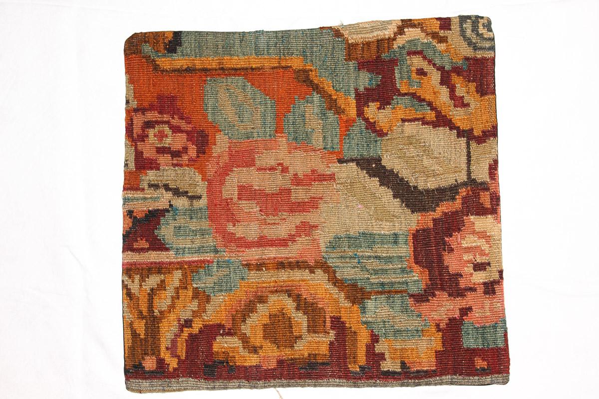 Rozenkelim kussen nr 16136 (45cm x 45cm) Kussen gemaakt van authentieke rozenkelim, inclusief binnenkussen