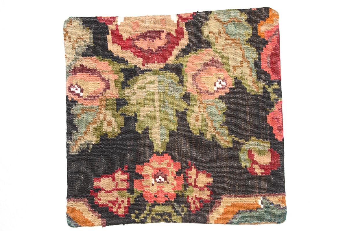 Rozenkelim kussen nr 16137 (45cm x 45cm) Kussen gemaakt van authentieke rozenkelim, inclusief binnenkussen