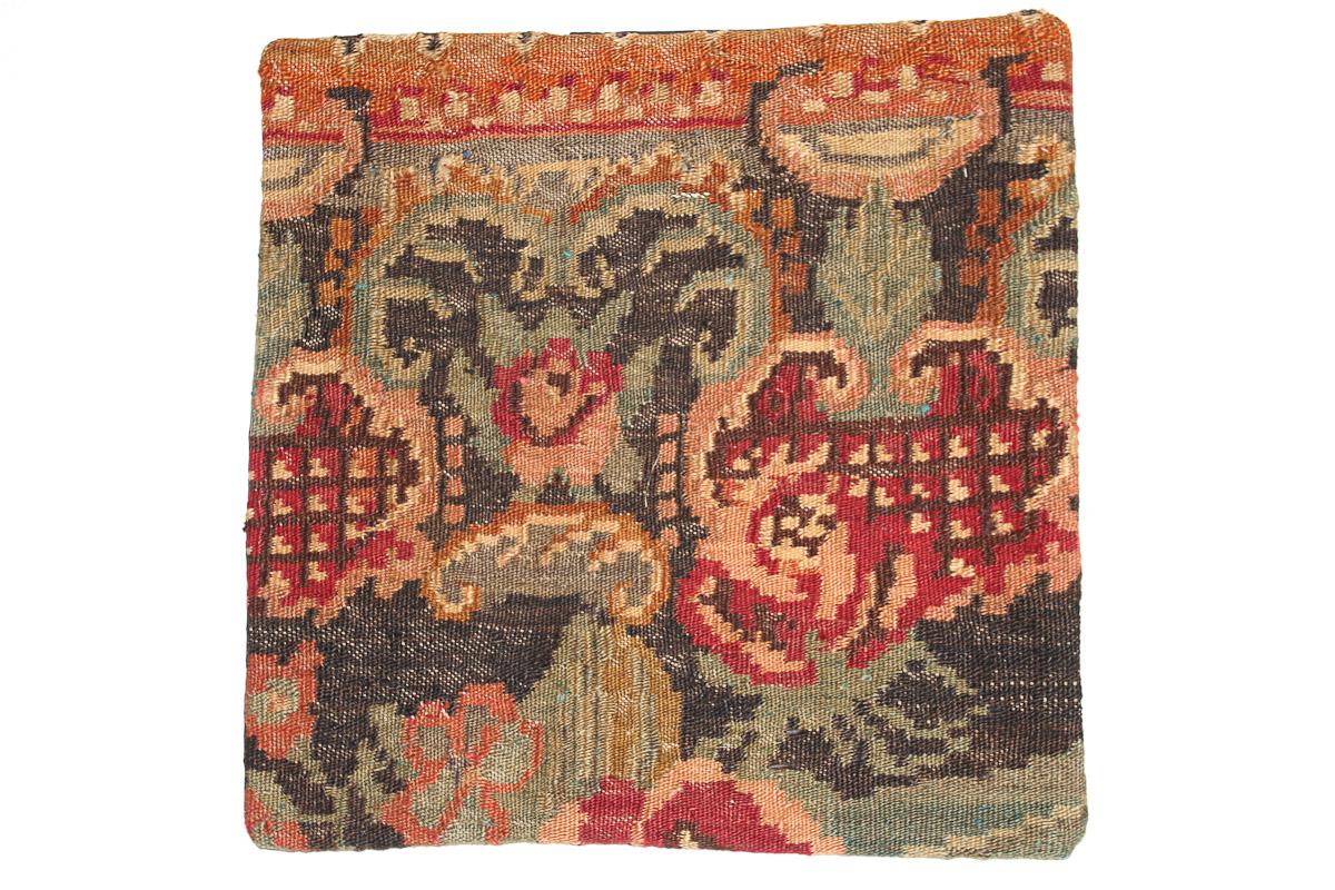 Rozenkelim kussen nr 16140 (45cm x 45cm) Kussen gemaakt van authentieke rozenkelim, inclusief binnenkussen