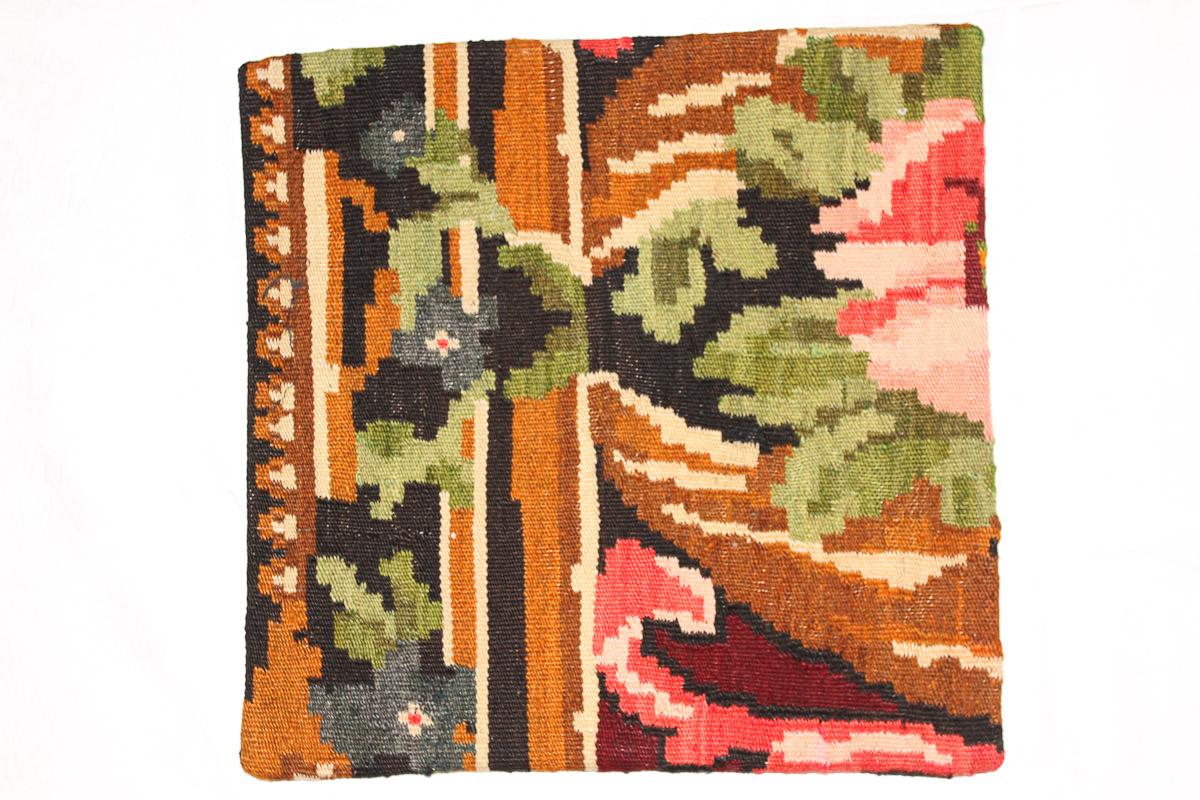 Rozenkelim kussen nr 16141 (45cm x 45cm) Kussen gemaakt van authentieke rozenkelim, inclusief binnenkussen
