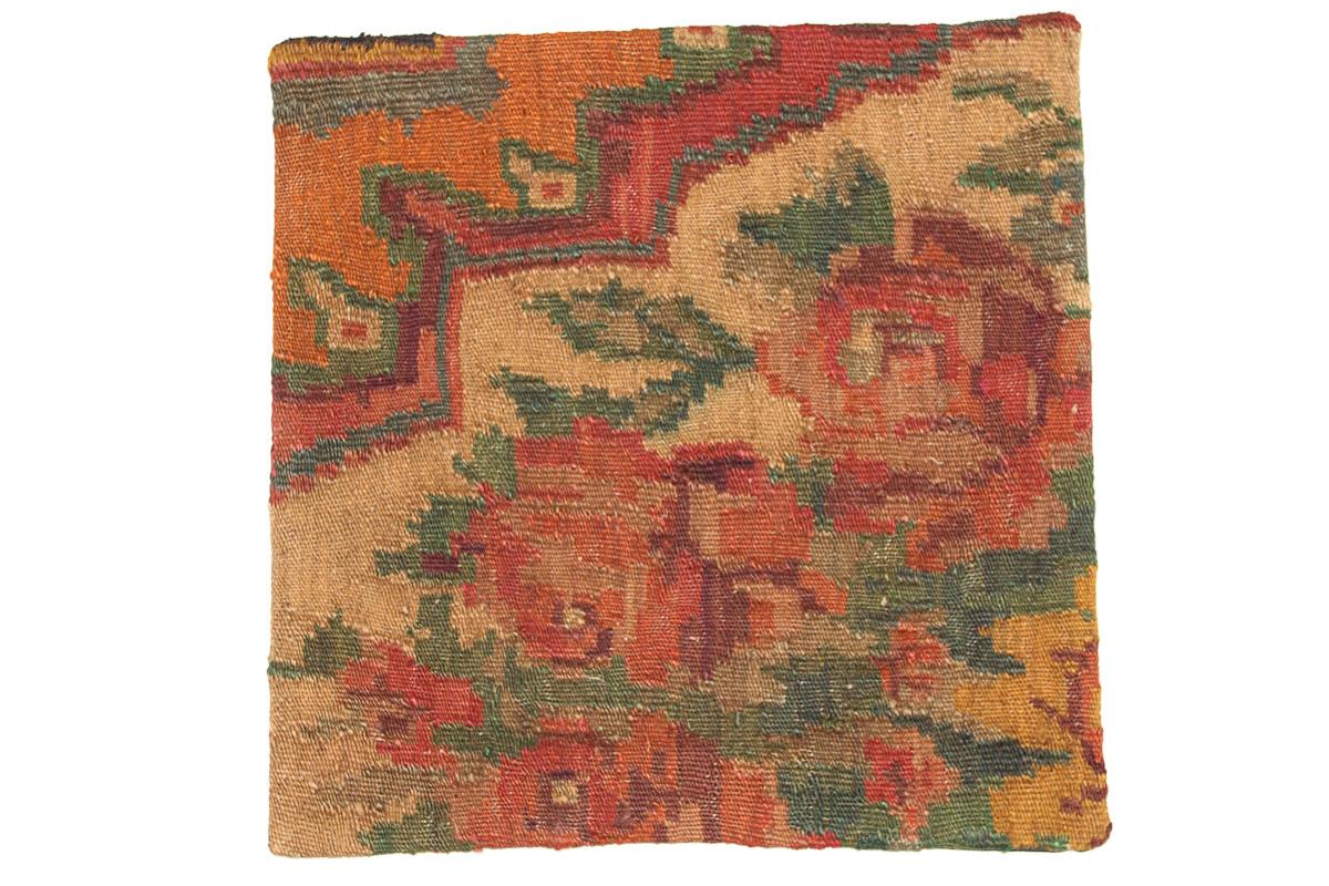Rozenkelim kussen nr 16142 (45cm x 45cm) Kussen gemaakt van authentieke rozenkelim, inclusief binnenkussen