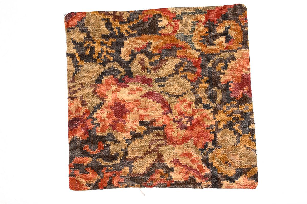 Rozenkelim kussen nr 16143 (45cm x 45cm) Kussen gemaakt van authentieke rozenkelim, inclusief binnenkussen