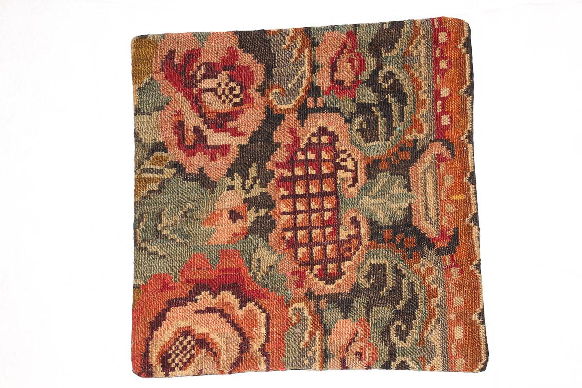 Rozenkelim kussen nr 16145 (45cm x 45cm) Kussen gemaakt van authentieke rozenkelim, inclusief binnenkussen