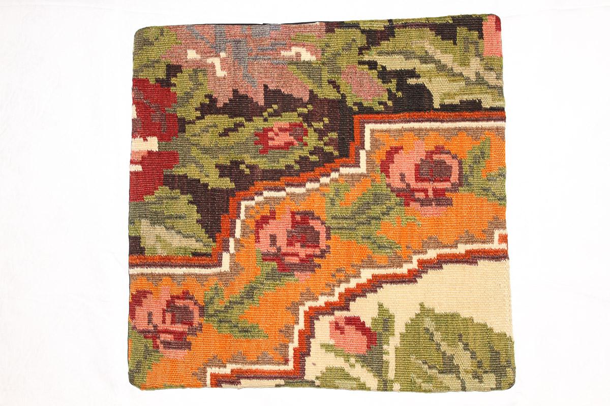 Rozenkelim kussen nr 16150 (45 cm x 40 cm) Kussen gemaakt van authentieke rozenkelim, inclusief binnenkussen