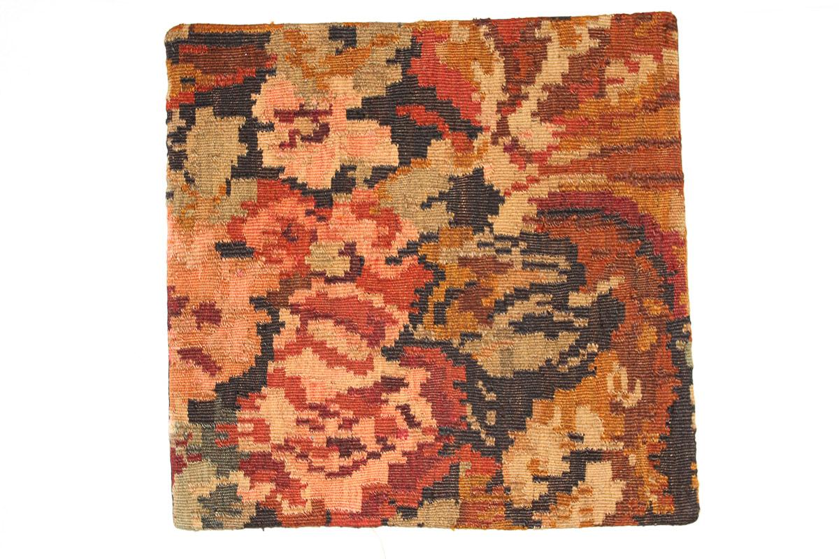 Rozenkelim kussen nr 16151 (45cm x 45cm) Kussen gemaakt van authentieke rozenkelim, inclusief binnenkussen