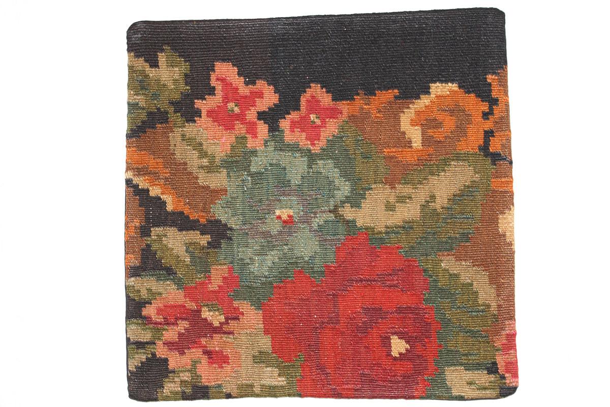 Rozenkelim kussen nr 16153 (45cm x 45cm) Kussen gemaakt van authentieke rozenkelim, inclusief binnenkussen