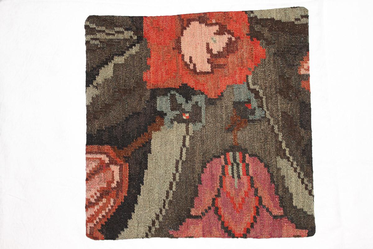 Rozenkelim kussen nr 16158 (45cm x 45cm) Kussen gemaakt van authentieke rozenkelim, inclusief binnenkussen