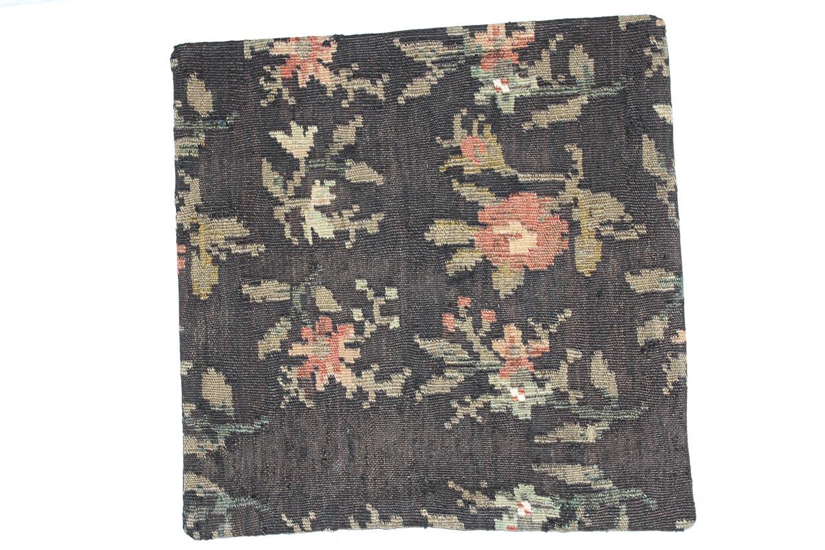 Rozenkelim kussen nr 16162 (45cm x 45cm) Kussen gemaakt van authentieke rozenkelim, inclusief binnenkussen