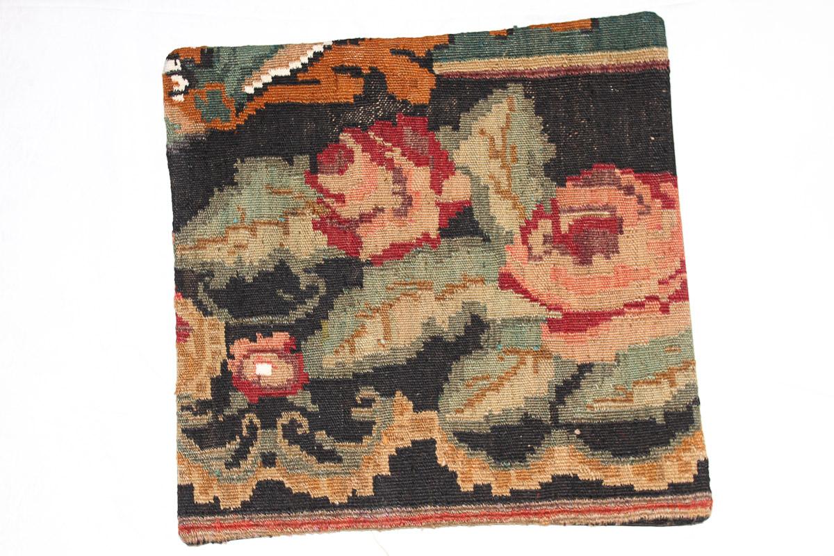 Rozenkelim kussen nr 16163 (45cm x 45cm) Kussen gemaakt van authentieke rozenkelim, inclusief binnenkussen
