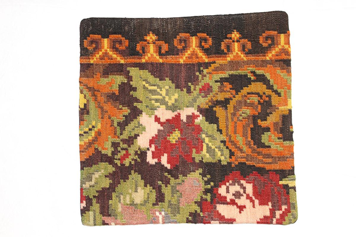 Rozenkelim kussen nr 16165 (45cm x 45cm) Kussen gemaakt van authentieke rozenkelim, inclusief binnenkussen