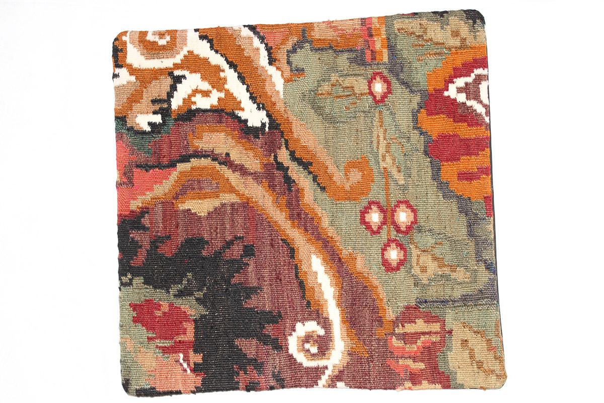 Rozenkelim kussen nr 16166 (45cm x 45cm) Kussen gemaakt van authentieke rozenkelim, inclusief binnenkussen