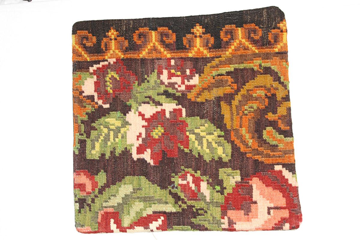 Rozenkelim kussen nr 16171 (45cm x 45cm) Kussen gemaakt van authentieke rozenkelim, inclusief binnenkussen
