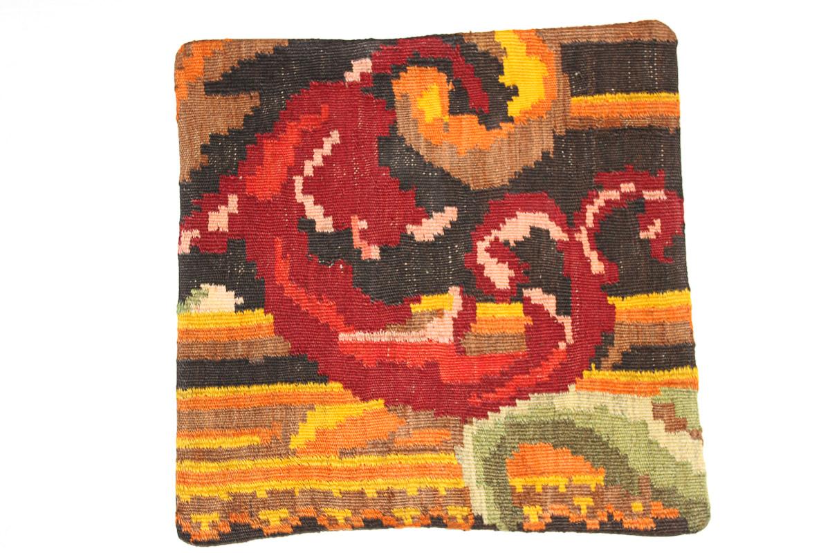 Rozenkelim kussen nr 16173 (45cm x 45cm) Kussen gemaakt van authentieke rozenkelim, inclusief binnenkussen