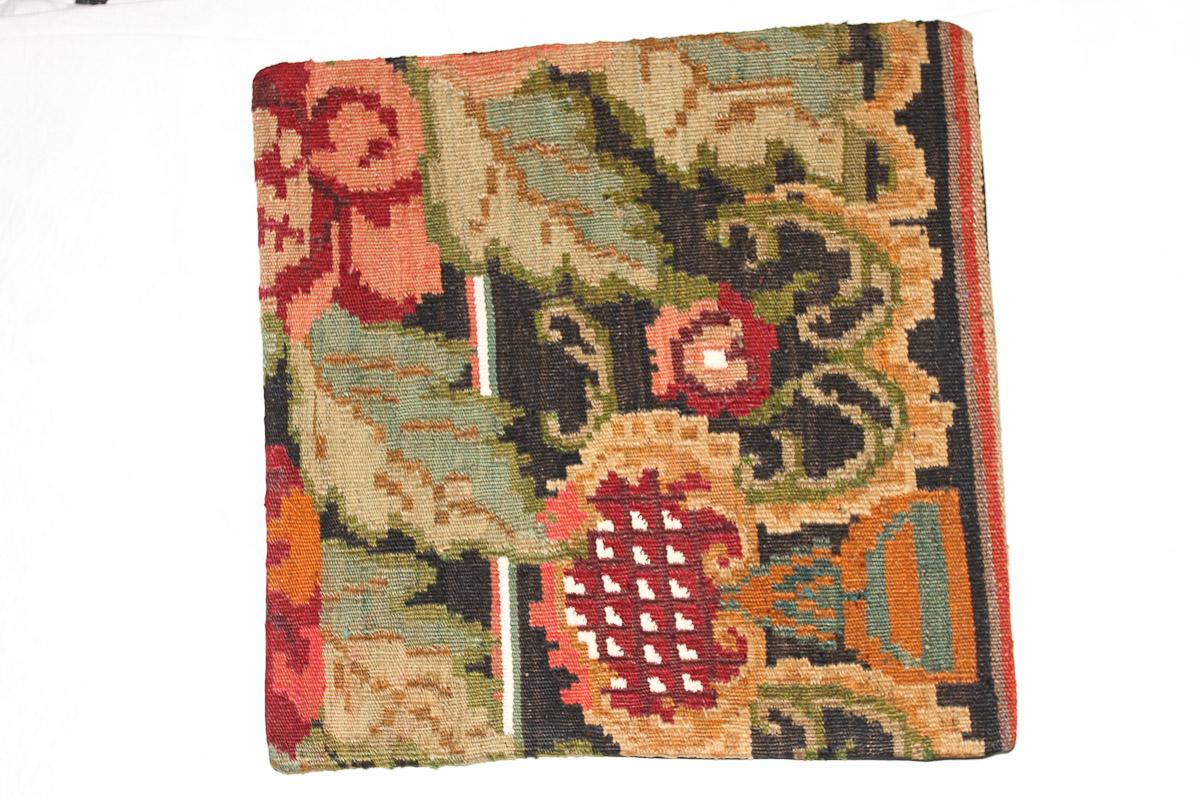 Rozenkelim kussen nr 16174 (45cm x 45cm) Kussen gemaakt van authentieke rozenkelim, inclusief binnenkussen