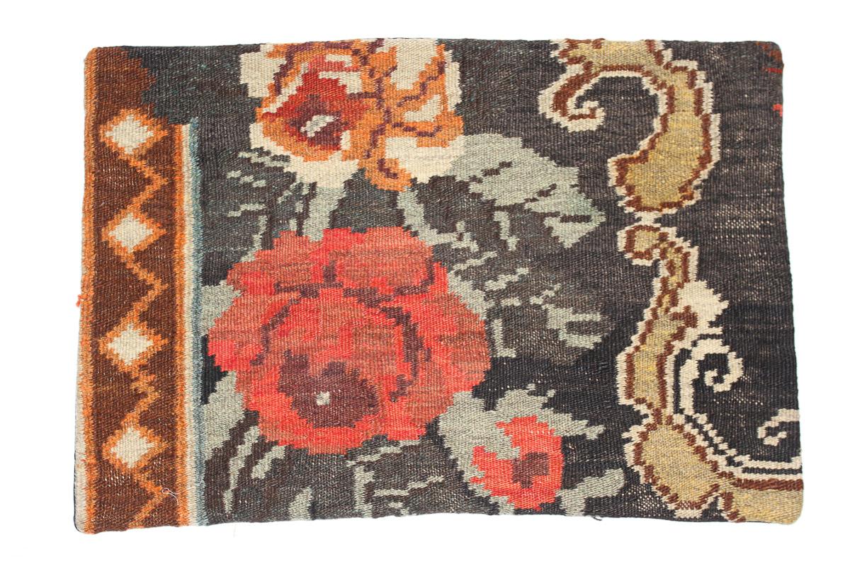 Rozenkelim kussen nr 1622 (60 cm x 40 cm) Kussen gemaakt van authentieke rozenkelim, inclusief binnenkussen