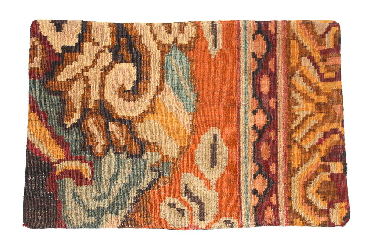 Rozenkelim kussen nr 1627 (60 cm x 40 cm) Kussen gemaakt van authentieke rozenkelim, inclusief binnenkussen